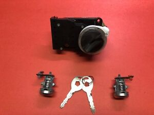 1994 2001 Dodge Ram 1500 2500 3500 Ignition Door Lock Cylinder Set 2 Keys Used