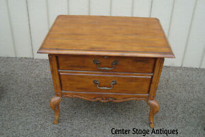 59813 French Country Nightstand End Table Stand W Pull Out