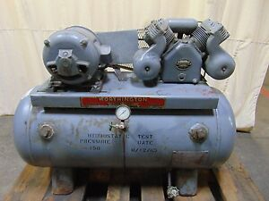 Worthington Air Compressor With 60 Gallon Air Tank 220 440 3ph