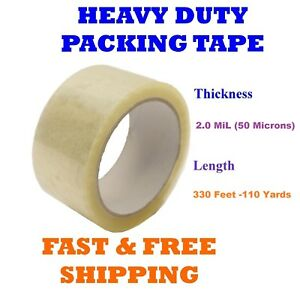 2 0 Mil Clear Packing Tape Carton Box Sealing Moving Shipping 330 Ft 110 Yards