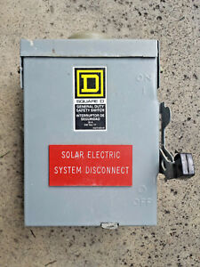 Square D D221nrb General Duty Safety Switch 30a 240vac solar Disconnect