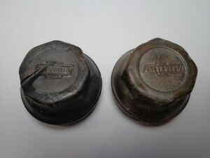 Pair Chevy 1922 1927 Chevrolet Hubcaps Grease Caps
