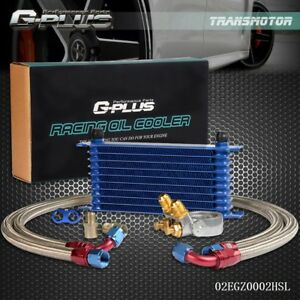 Gplus 10 Row An10 Engine Oil Cooler W 80 Deg Thermostat Plate Oil Lines Kit