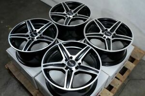 15 Wheels Mirage Lancer Galant Cooper Miata Civic Accord Black Rims 4x100 4x114