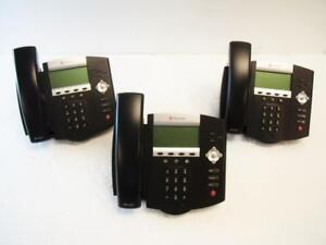 Lot Of 3 Polycom Ip 450 Soundpoint Voip Business Phones Handsets Power