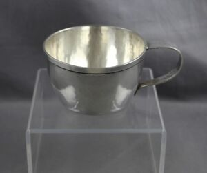 Porter Blanchard Hand Hammered Sterling Silver Art Craft Handled Baby Cup