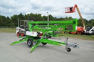 Nifty Tm34h 40 Ft Towable Boom Lift W hydraulic Outriggers 2019 Battery Powered