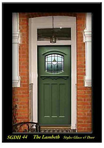 Solid Wood Stained Glass Exterior Door Sgdh 44 Wow