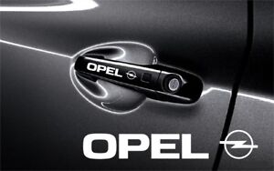 5x Opel Sticker Decals For Door Handle And Mirrors Self Adhesive