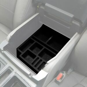 Fits F150 15 19 Center Console Black Organizer Insert Floor Console Only 2pc Set
