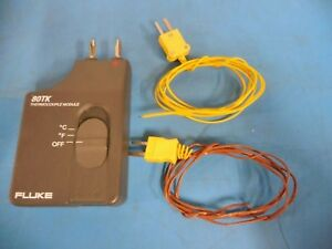 Fluke 80tk Thermocouple Module W K type Chromel alumel Unknown High Temp Wire