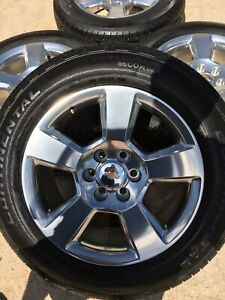 20 Chevy Silverado 2018 2019 Tahoe Oem Gm Wheels Rims Tires 2017 New 20 Inch