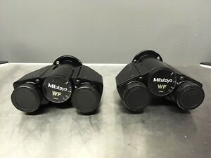 Lot Of 2 Mitutoyo Wf Microscope Heads Pre owned Nice Condition