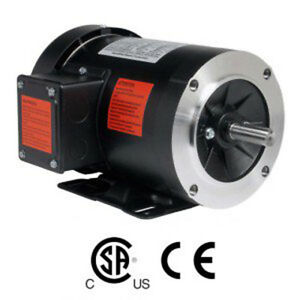1 Hp Electric Motor 3 Phase 56c Frame 1800 Rpm Tefc 208 230 460 Volt New