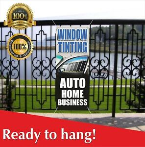 Window Tinting Banner Vinyl mesh Banner Sign Flag Auto Home Business Shop Car