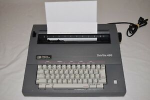 Excellent Smith Corona Deville 450 Electric Portable Typewriter With Case Works