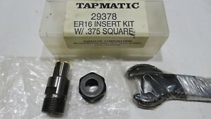 Tapmatic 29378 Er16 Insert Kit With 375 Square