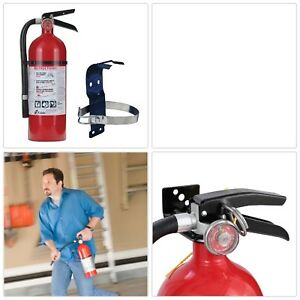 Fire Extinguisher Bundle W 5 Lb Mounting Bracket Electrical Fire Safety