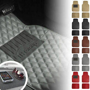 Universal Floor Mats Cars Diamond Design Leather 5 Colors W Free Black Dash Mat