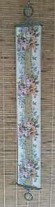 Victorian Style Floral Embroidered Tapestry 47 1 2in Bell Pull Door Knocker