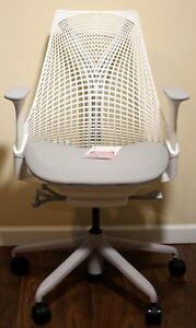 Herman Miller Sayl Office Chair Studio White And Crepe Shale Fabric new