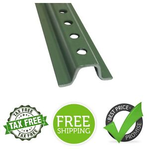 Green U channel Sign Post 6 Tall Solid Construction Baked Enamel Steel Post