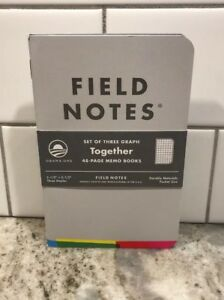 Field Notes Obama Foundation Together Notebooks 3 pack Limited Edition Rare