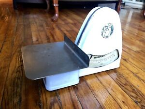 Antique Dayton Hobart White Porcelain 2lb Commercial Meat Grocery Scale Mo 100