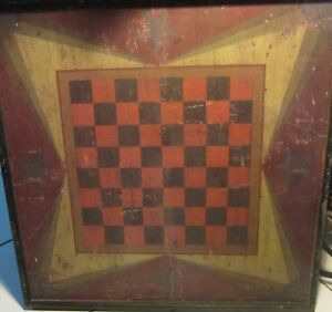 Vintage Sensational Gameboard Checkerboard Folk Art Warren Kimble