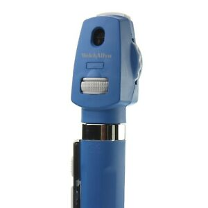 2 5v Led Direct Ophthalmoscope Blue Welch Allyn Aa Handle 12870 Pocketscope