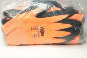 Lot Of 12 Radians Rwg559 Axiscut Protection Level A6 Sandy Nitrile Coated Glove