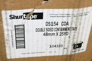 Lot Of 24 Shurtape Ds 154 48mm X 25 Yd Double sided Containment Tape