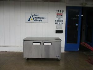 Atosa Mgf8407 Two Door Under Counter Freezer W locking Casters 3901