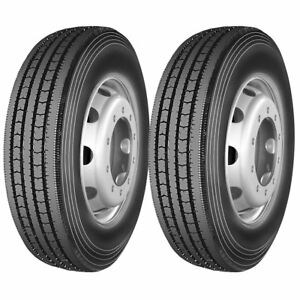 2 X Commercial Truck Tires 255 70r22 5 140 137l 14 Ply All Position Tires New