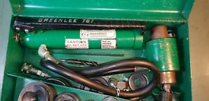 Greenlee 767 Quick Draw Hydraulic Knockout Pump With 746 Ram