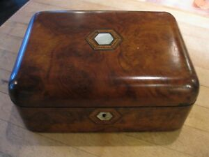 Antique English Victorian Sewing Notions Box