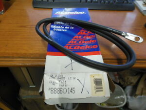Acdelco 4st51 Battery Cable 51 Black W eyelets On Both Ends