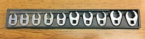 Snap On 210frhma 10 Pc Crow Flare Nut Wrench Set Metric
