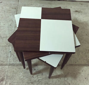 Mid Century Modern Stacking Formica Nesting Tables