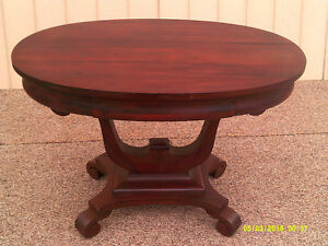 59057 Antique Empire Library Table Desk With Drawer