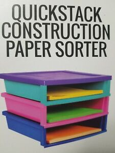 New A Storage Quick Stack Construction Paper Sorter Rack 3 Compartments