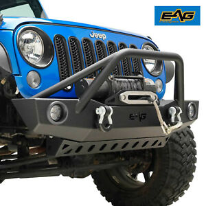 Eag 07 18 Jeep Wrangler Jk Led Front Bumper With Lower Skid Plate