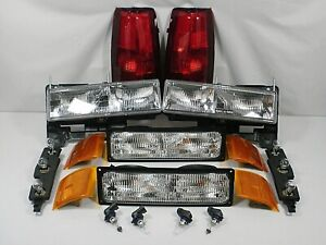 Headlights Taillights Bulbs Marker Corner No Bulbs 94 98 Chevy Silverado