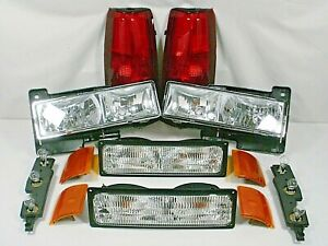 1994 1999 Gmc Sierra Yukon Headlight Set With Other Lights Pictured Truck Suv