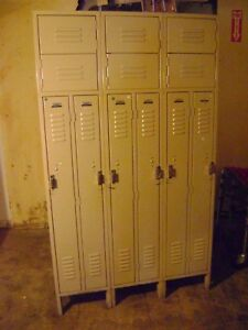Gym School Employee Metal Lockers 6 Row
