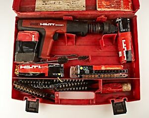 hilti Dx351 Powder Actuated Tool W Case Extension Booklet Some Accessories