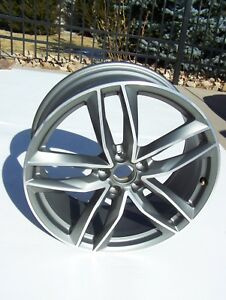 16 2019 Audi S6 A6 A7 S7 Wheel Oem 8 5x20 Oem 5 Split Spoke 20 Titan Matt Rim