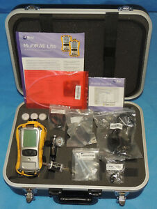 Rae Pgm 6228 Multirae Multi gas Monitor Hcn Co Oxy Lel Sensor Case Warranty