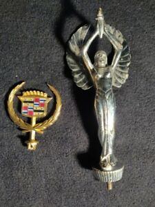 Classic Hood Ornaments Cadillac And Winged Lady