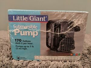 Little Giant 170 Gph Submersible Water Pump New And Factory Sealed